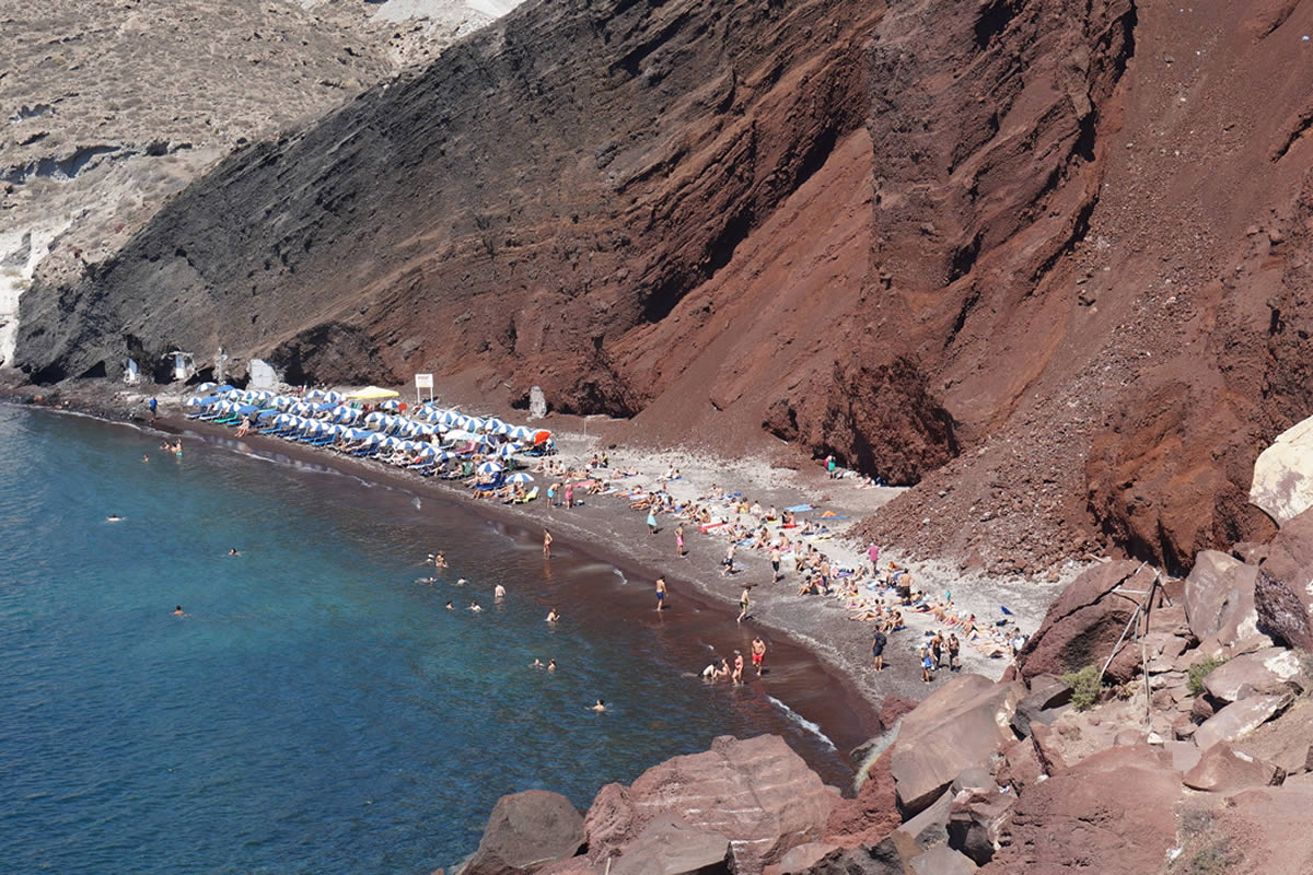 Santorini Dream Tours - Private Tours - Red Beach
